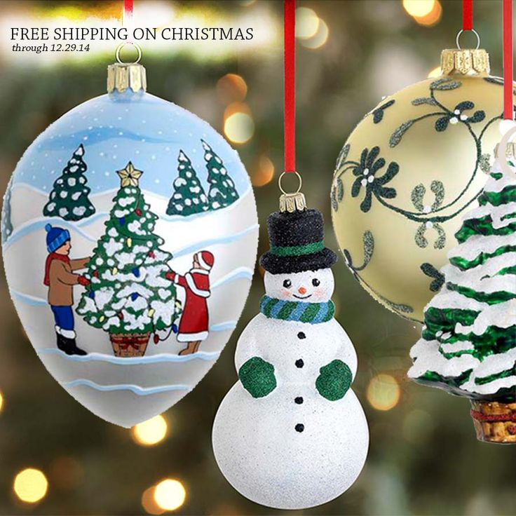 Hand blown Christmas glass ornaments come in