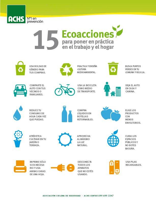 15 ecoacciones para cuidar el #medioambiente #masprevencion #prevencion