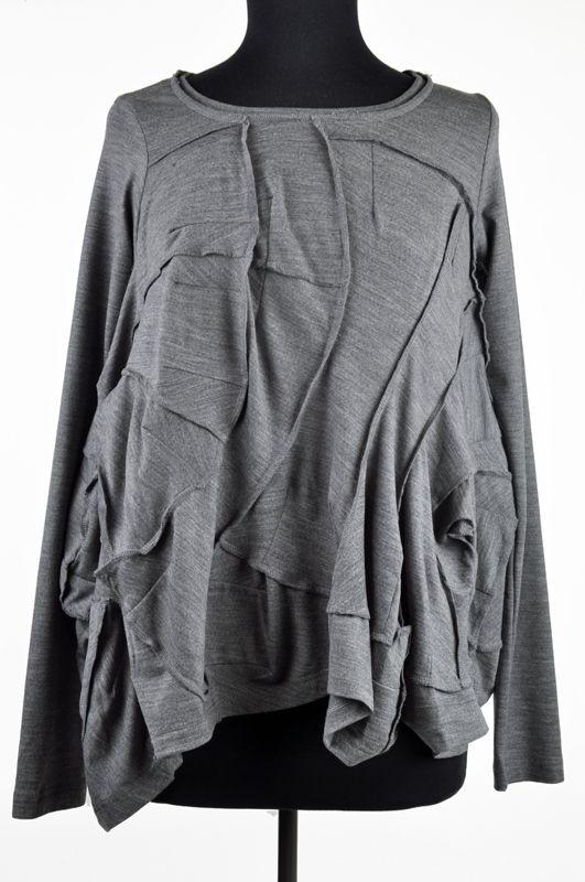 Rundholz - Grey Pieced Knit Top - wool, elastane