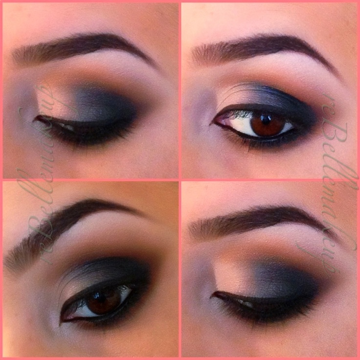 Red eye makeup looks step by step