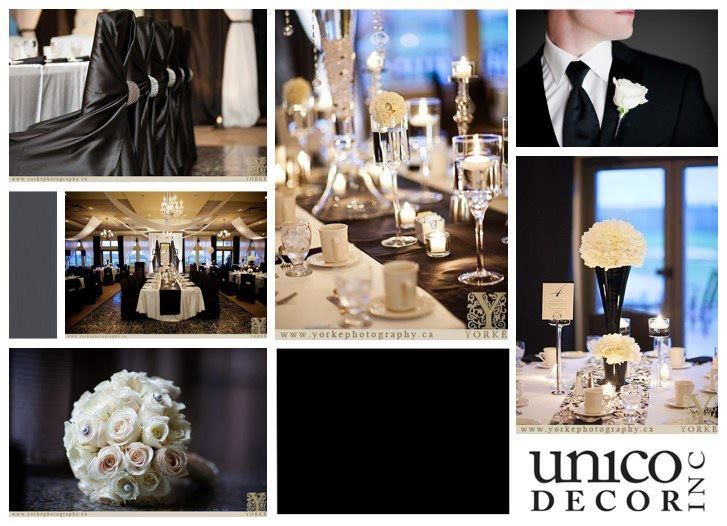 Black and white wedding | Moncton Wedding Decor | Unico Decor