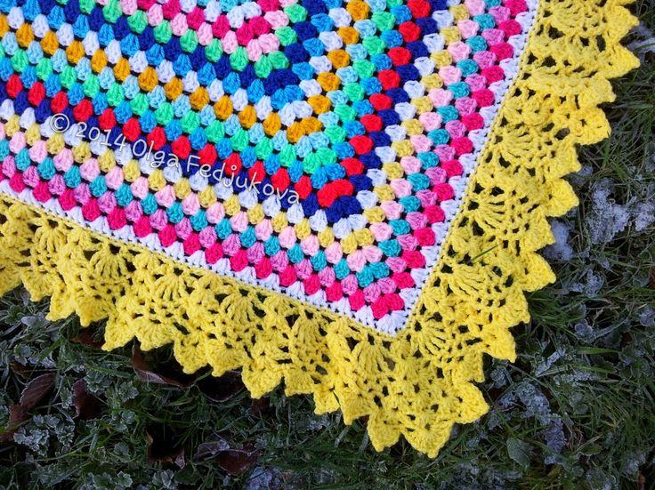 Colour Rush Blanket, with pattern link to border!