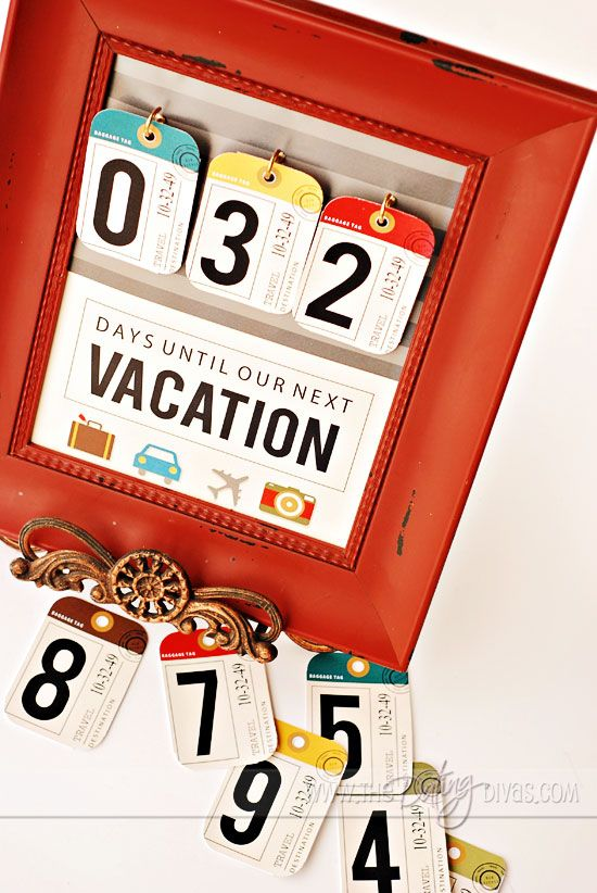 A Vacation Countdown for your family's next big trip! FREE printables included!