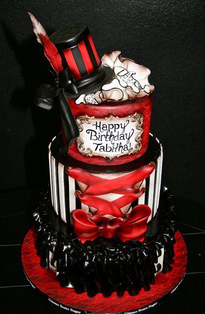 Burlesque Birthday cake by Gimme Some Sugar (vegas!), via Flickr