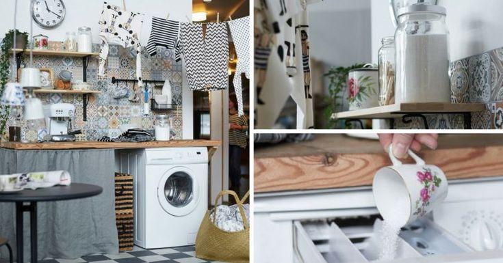 """Une """"Super Buanderie"""" IKEA Jolie & Pratique Dans La Cuisine (PHOTOS)"""