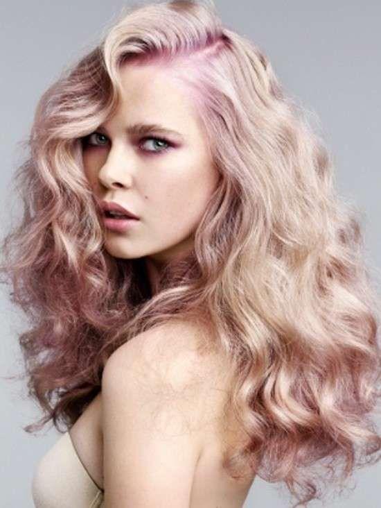 Arcobaleno sui capelli inverno 2016 - Long hair mossi con radici rosa pallido
