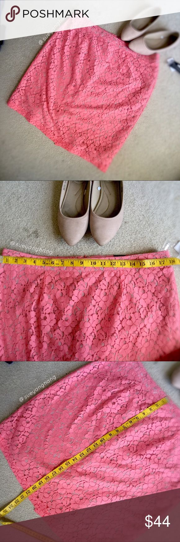 APARTMENT 9 Coral Pencil Skirt BRAND NEW WITH PRICE TAGS STILL ATTACHED!  This is adorable and perfect for an everyday look. Apt. 9 Skirts Pencil