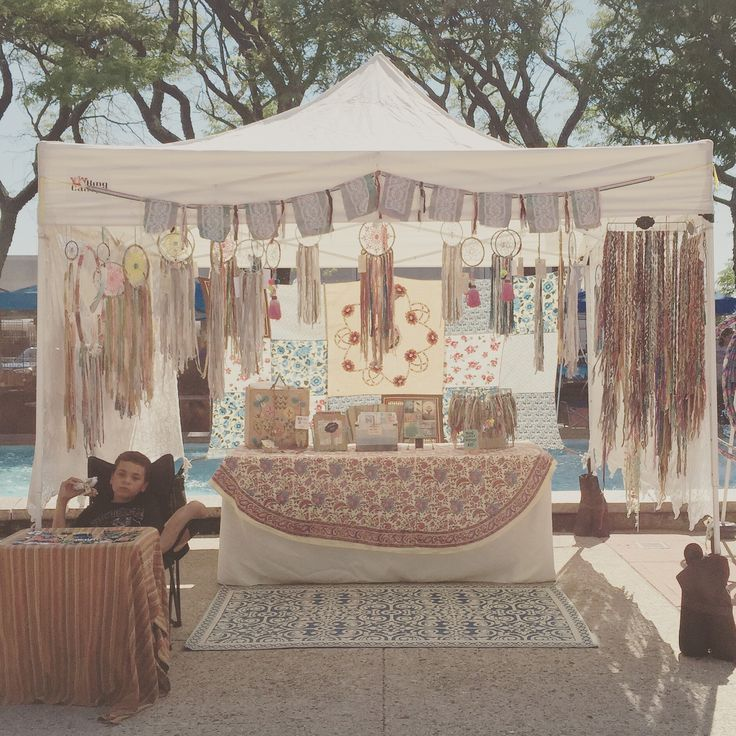 Craft show booth idea - love the muted colours throughout