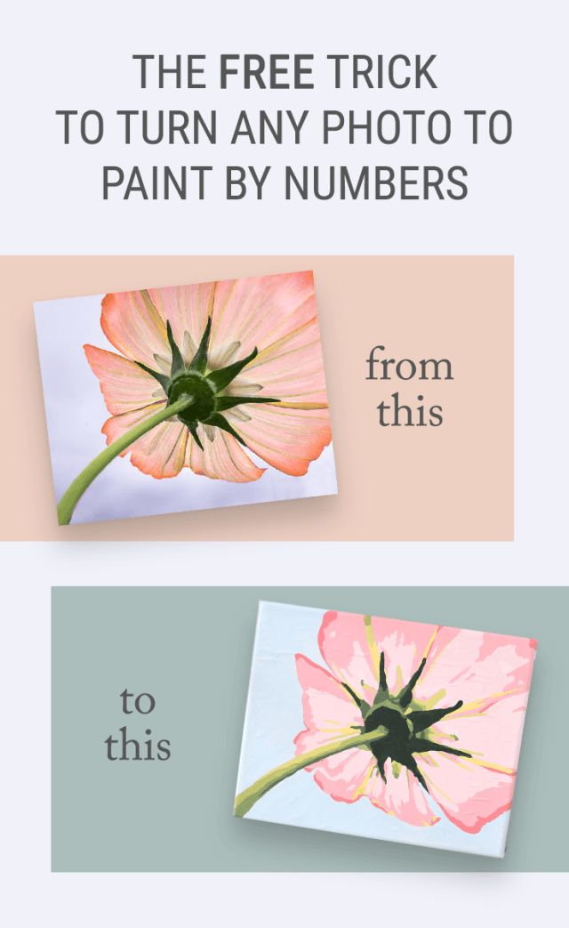 The Free Trick for How to Turn a Photo into Paint by Numbers Wall Art - Convert your favorite photos into a printable paint-by-numbers template without any special skills or software. This makes a perfect gift or craft night idea to create some beautiful home decor! Crafts can totally be affordable and easy -- even for a beginner!