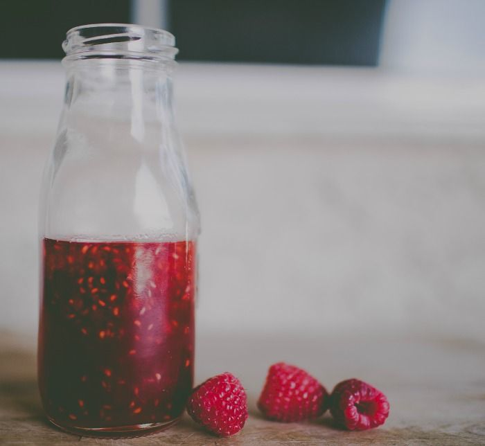 This is a simple Raspberry Simple Syrup Recipe that is perfect for adding to lemonade, cocktails, or on top of ice cream!