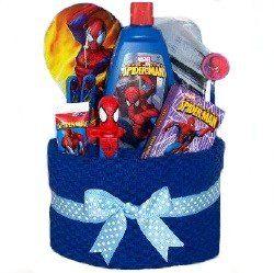 Spider-Man Bathroom Items | .com: Spiderman Bath Towel Cake for Boys - Dental Care, Bath Products ...