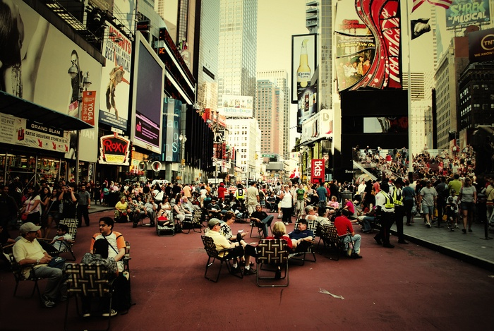 Relaxing at Times Square 2