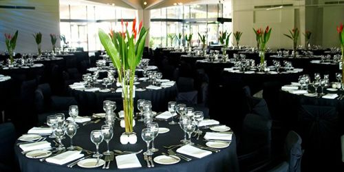 Adelaide Festival Centre  Function rooms can cater for 50-700 guests. Has inhouse catering team.