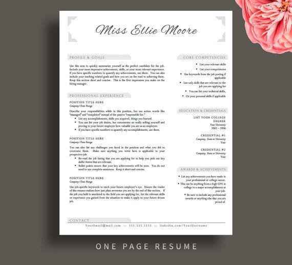 Best Teacher Resume Templates Images On   Cv Resume