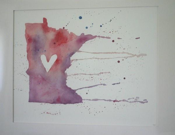 Minnesota!: Unique Artworks, Minnesota Art, States Art, Minnesota Nice, Minnesota Love, My Heart, Heart Minnesota, Water Colors, Watercolor Prints