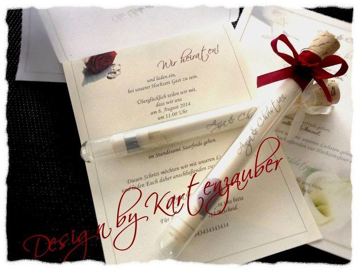 27 best einladungen hochzeit images on pinterest | glass, pictures, Einladung