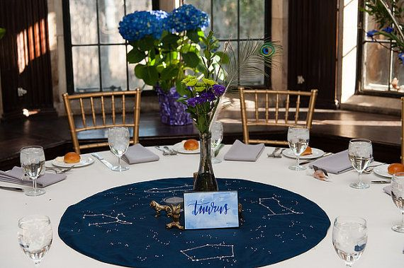 Constellation table toppers hand embroidered by falblute on Etsy