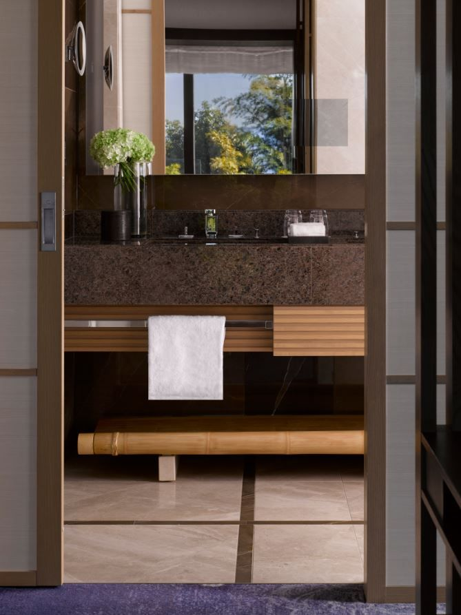 Guestroom Bathroom At The Four Seasons Kyoto By HBA Design.