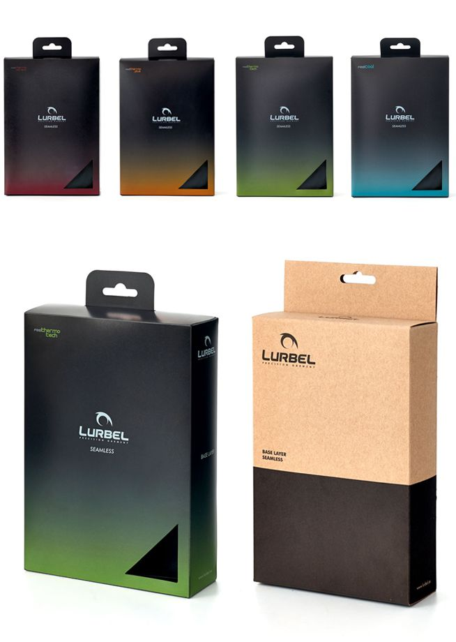 restyling packaging design fot a sportwear and socks  client   lurbel precision garment