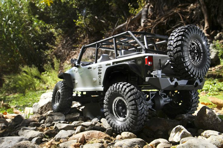 This Jeep Wrangler RC Car is actual Jeep Trail Rated, WANT! Axial Racing - SCX10™ 2012 Jeep® Wrangler Unlimited Rubicon 1/10th Scale Electric 4WD - RTR