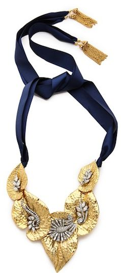 Gold leaf and navy strap bracelets