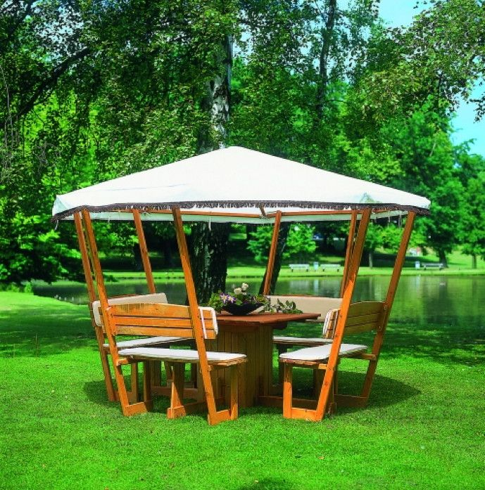 17 Best Ideas About Holzpavillon On Pinterest   Hängeerdbeeren ... Holz Pavillon Im Garten Bauarten