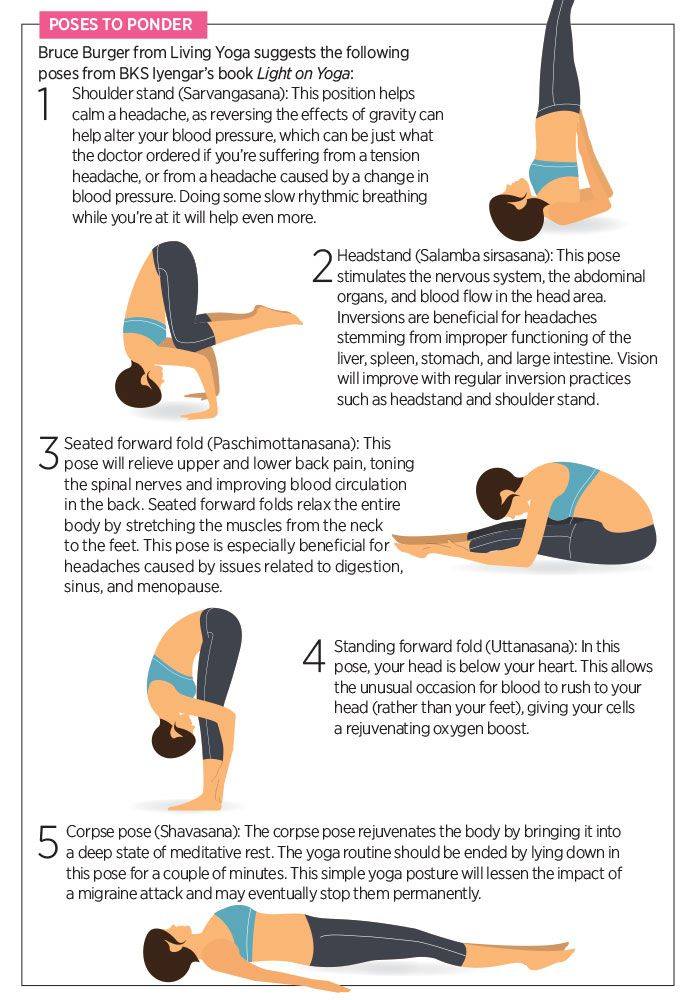 Yoga Poses To Relieve Headaches How To Relieve Headaches Yoga Poses Yoga