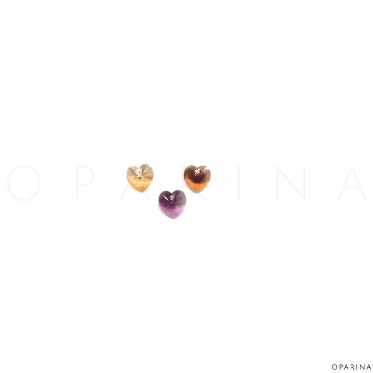 6228 10mm Crystal Xilion  Heart Pendant de Swarovski Elements en colores, Golden Shadow, Amerhyst y Topaz Blend en Oparina.  #oparina #swarovskielements #hearts #swarovski #madewithstudio