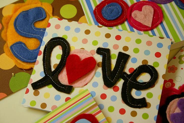 Sewn felt cards