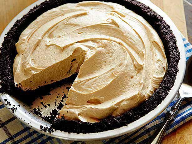 Chocolate Peanut Butter Pie Recipe from Food Network (graham cracker crust, halved the filling and only added 3/8 cup powdered sugar, topped with chocolate ganache made with 6 oz chocolate chips & 1/3 cup almond milk)