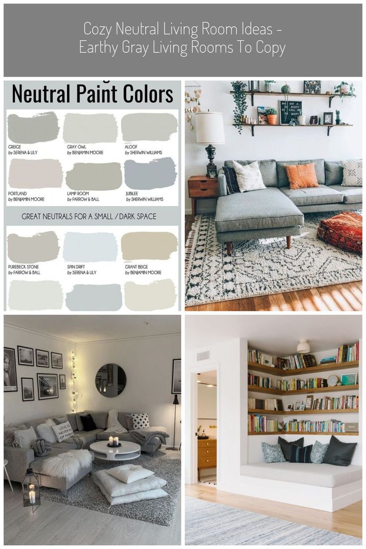 Cozy Gray Living Room Inspiration LOVE all these gray and ...