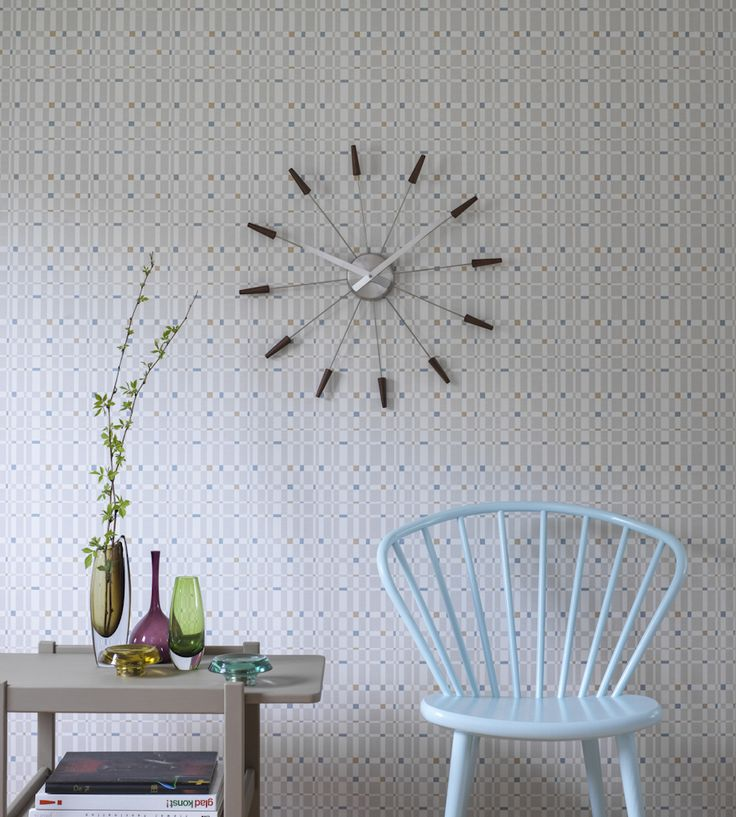 Retro wallpaper with a Scandinavian feel.  Design Classic | Retro | Hedvig Wallpaper by Sandberg | Jane Clayton