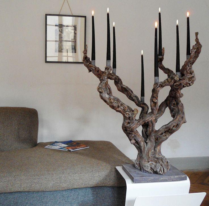этой сугубо изделия декора из камня коряг веток фото подсвечник