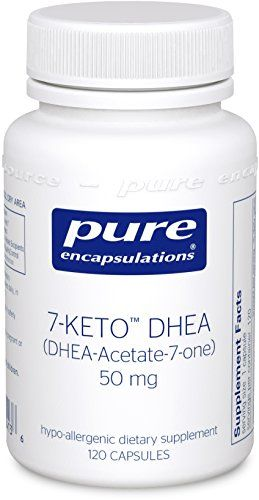 Pure Encapsulations - 7-KETO DHEA (DHEA-Acetate-7-one) 50 mg. - Unique DHEA Metabolite - Hypoallergenic Dietary Supplement - 120 Capsules * You can get additional details at the image link.