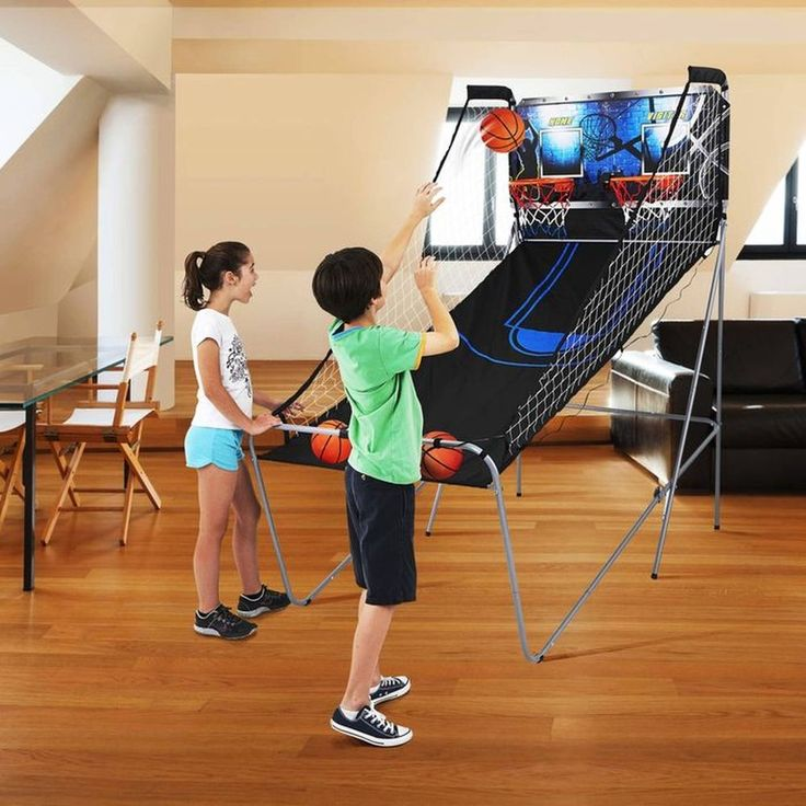 2-Player Indoor Arcade Basketball Game 8 Game Options 3 Point Shot Easy Storage. #MDSports