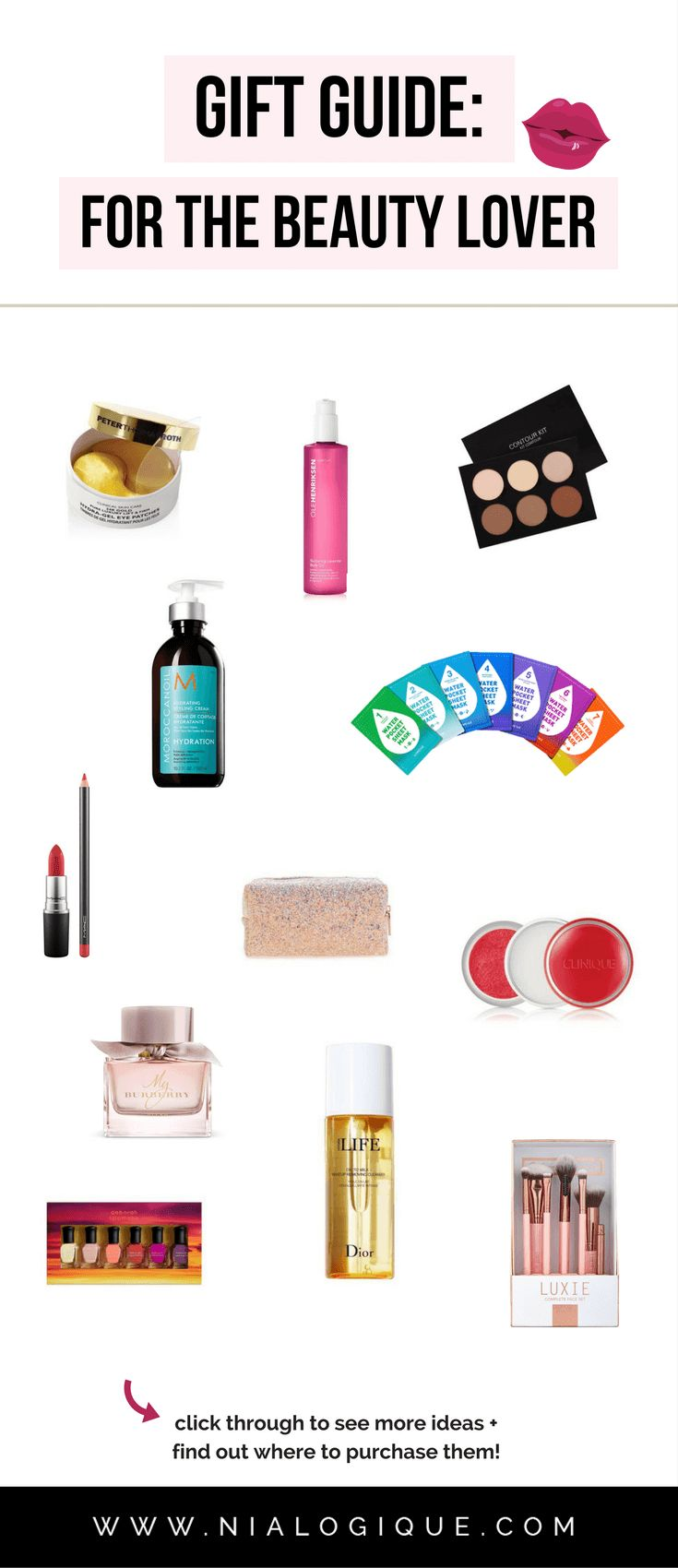 Gift Guide: For The Beauty Lover | 20 gorgeous gifts for your beauty-obsessed girlfriend, wife, mother, aunt, coworker, or friend! | birthday gift ideas, christmas gift ideas, valentines day gift ideas, gifts for her, makeup, hair care, skin care, nail care
