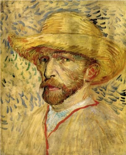 Self-Portrait with Straw Hat (1887) - Vincent van Gogh