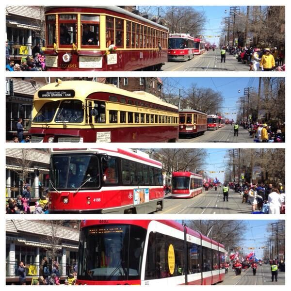 Evolution of the street car over 100 years for the lucky city that never tore up its tracks #Toronto