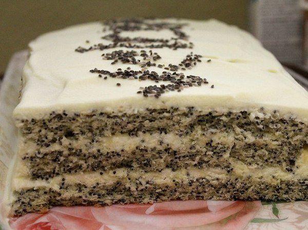 Нежный, воздушный и тающий во рту маковый торт. | Школа шеф-повара