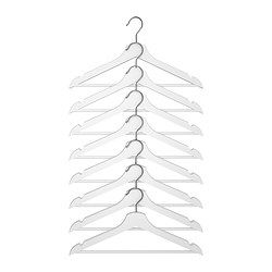 $4.99 for 8 come in black for Husband closet IKEA - BUMERANG, Hanger, white,  ,