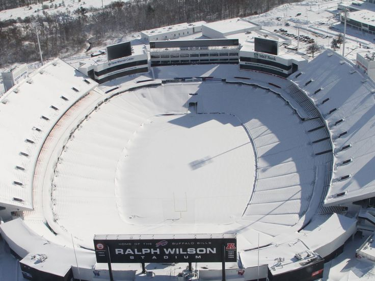 Ralph Wilson Stadium, home of the Buffalo Bills football team, is buried under the snow.  (WGRZ, 11/18/14)