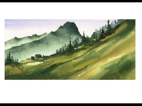Watercolor Landscape Tutorial - YouTube