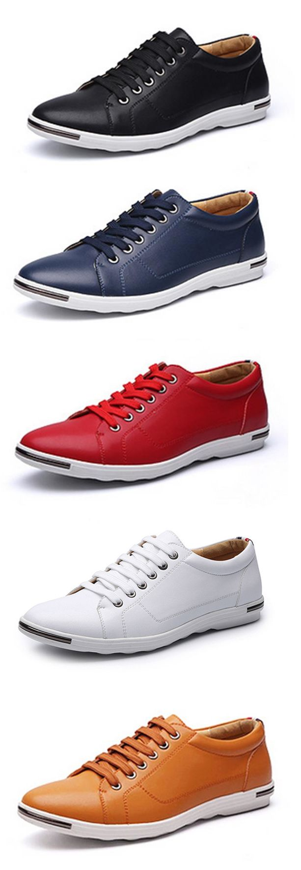 Big Size Men's Fashion Comfortable Outdoor Lace Up Casual Flat Shoes