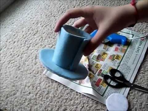How To Make A Mini Top Hat Tutorial - DIY Alice in Wonderland Mad Hatter - YouTube