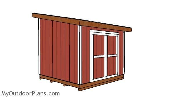 10x10 Lean To Shed Free Diy Plans In 2020 Lean To Shed 10x10 Shed Plans Diy Shed