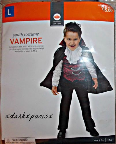 Jude 2014: $17 NEW-awesome-TARGET-BOYS-VAMPIRE-COSTUME-Cape-Shirt-with-Vest-Cravat-SZL-10-12