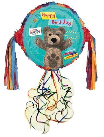 Pinata gra dla dzieci na urodzinową imprezę z motywem z bajki Mały Miś Kuba.