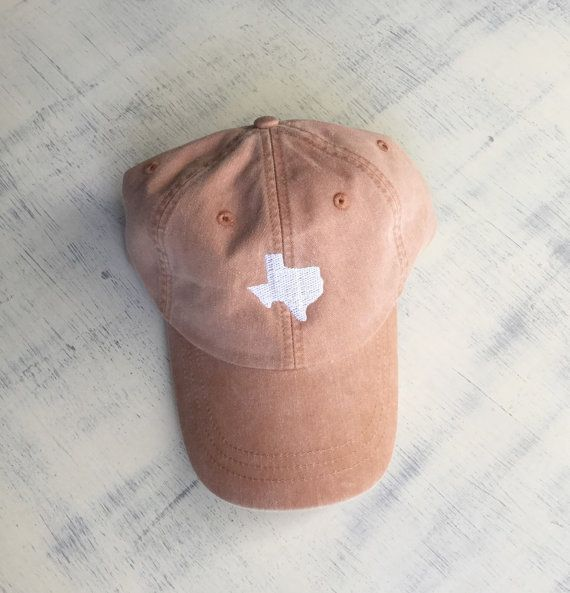 State of Texas baseball hat Pigment dyed hat by CosyDesignscd