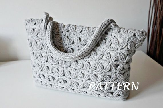 Flowers motif purse crochet pattern for sale on Etsy. Love this repeating flowers stitch.