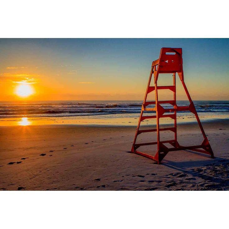 """Lifeguard stand at Sunrise"" by Glenn Martin, Canvas Giclee Wall Art Print"